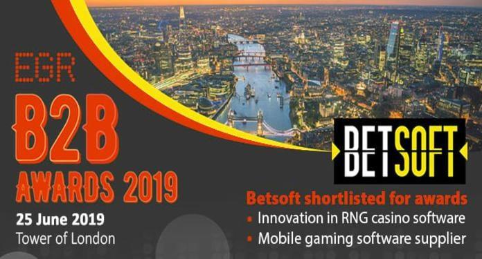 Betsoft Gaming Está Presente na Lista de Categorias do EGR B2B Awards