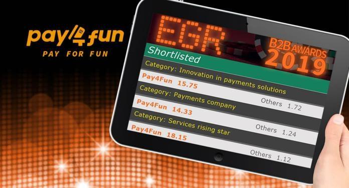 Pay4Fun é Indicada na Lista de Finalistas do EGR B2B Awards