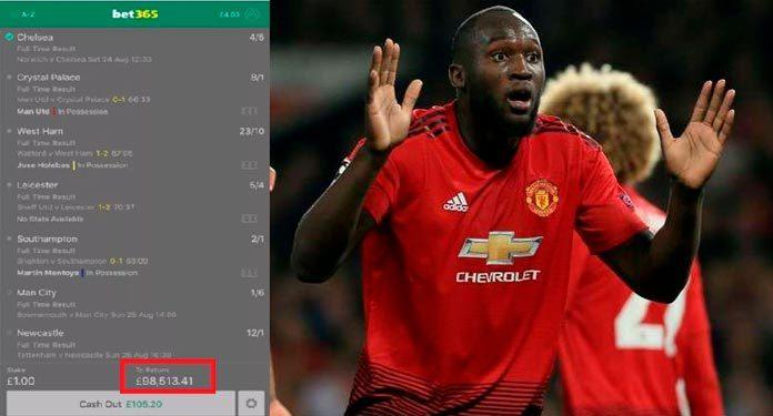Torcedor-do-United-Aposta-£-1-em-Acumulado-de-Jogos,-Retira-£-200-e-Deixa-de-Ganhar-quase-£-100-Mil