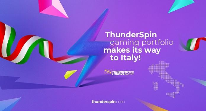 Portfólio de Jogos ThunderSpin Será Disponibilizado no Mercado da Itália