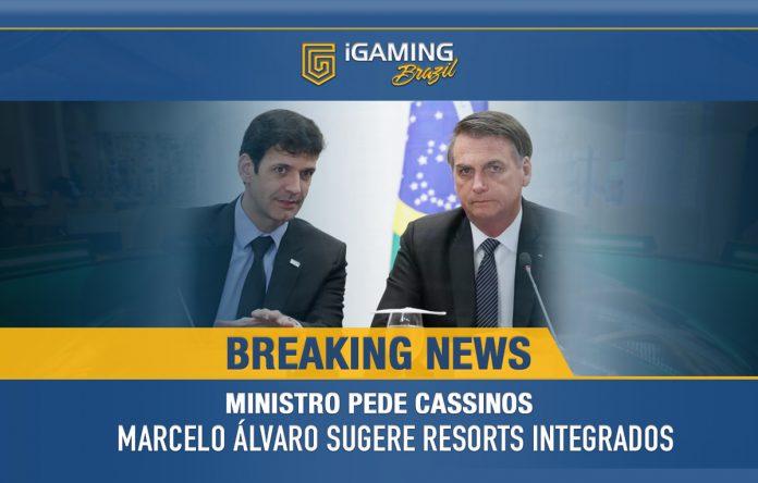 Em Reunião Ministerial com Jair Bolsonaro, Marcelo Álvaro Defende Liberação de Cassinos no Brasil