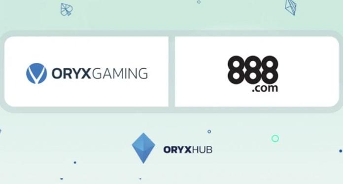 ORYX Gaming Firma Parceria com a 888 Holdings