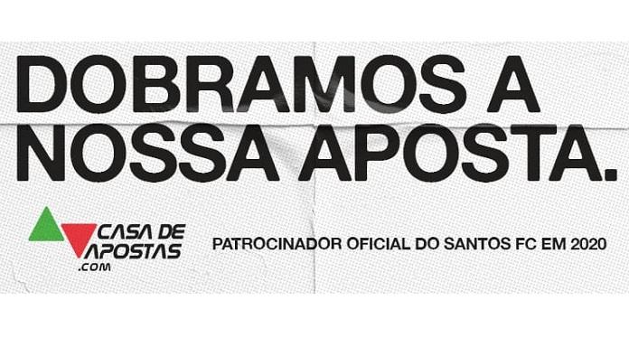 Casa de Apostas Prorroga Patrocínio com o Santos até o Fim do Brasileirão