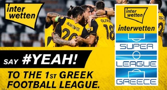 Interwetten É Nomeada Patrocinadora Principal da Super Liga Grega