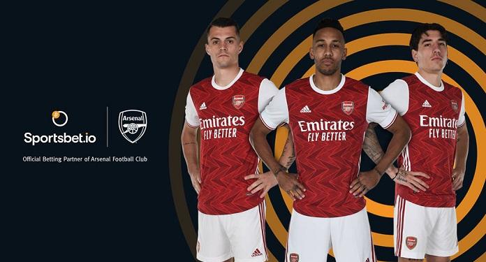 Sportsbet.io Anuncia Parceria de Apostas Esportivas com o Arsenal