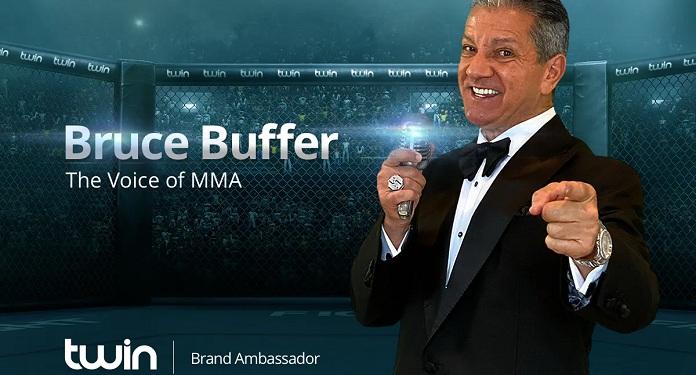 Twin Anuncia Bruce Buffer como Novo Embaixador da Marca