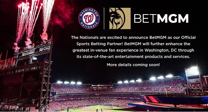 BetMGM fecha acordo exclusivo de apostas com Washington Nationals, da MLB