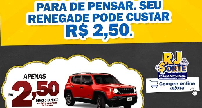 RJ da Sorte promove concurso principal com Jeep Renegade 0km