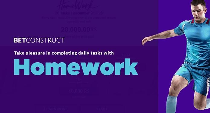 """BetConstruct lança nova promoção com o """"HomeWork"""""""