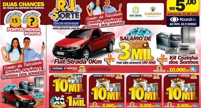 RJ da Sorte will promote R $ 5,000 draws until the 'Combo da Felicidade' this Sunday
