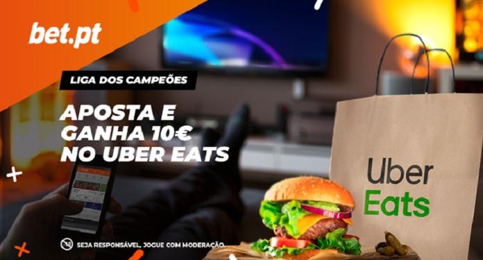 Bet.pt lança promoção com Uber Eats para jogos da Liga dos Campeões
