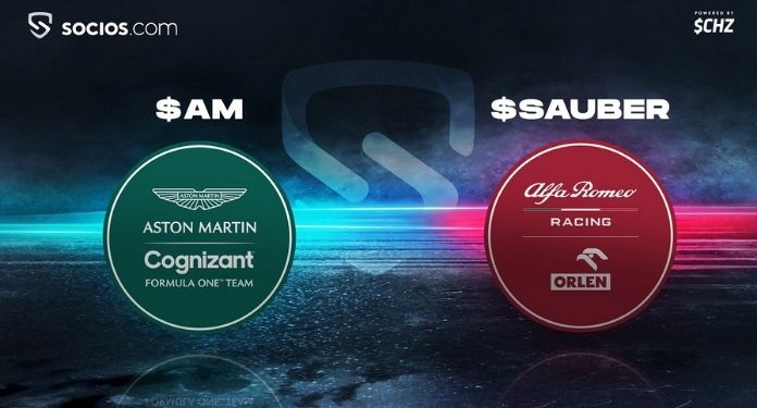 Aston-Martin-Cognizant-e-Alfa-Romeo-Racing-Orlen-se-lancam-na-Socios.com