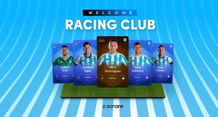 Plataforma Sorare anuncia acordo com o Racing Club, da Argentina