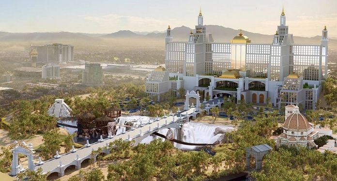 Campaign 'Viva Lost Vegas', by an online gambling company, recreated announced but forgotten projects on the Strip