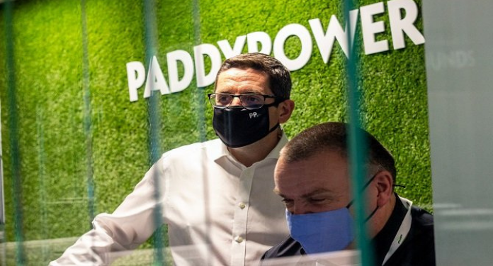 President-and-CEO-of-Flutter-Entertainment-UK-and-Ireland-spend-the-day-working-in-the-Paddy-Power stores