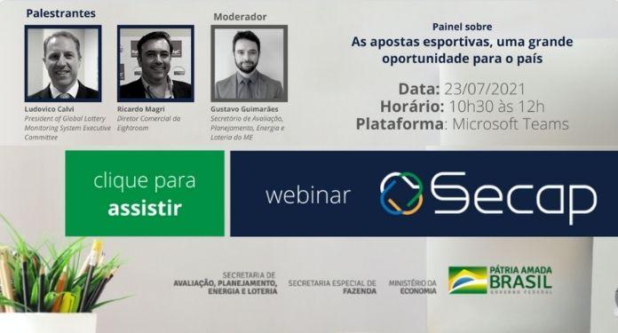 Secap/ME promoverá webinar para debater mercado brasileiro de apostas esportivas