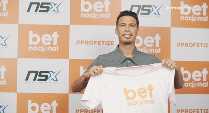 Jogador Hernanes, do Sport, é estrela de nova campanha da Betnacional